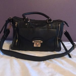 Black Melie Bianco Hobo bag w/shoulder strap